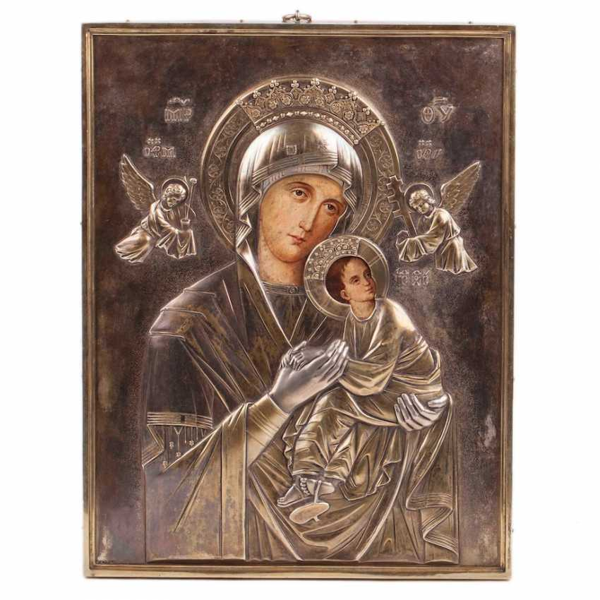 An extremely rare icon of the Holy mother of God - photo 1