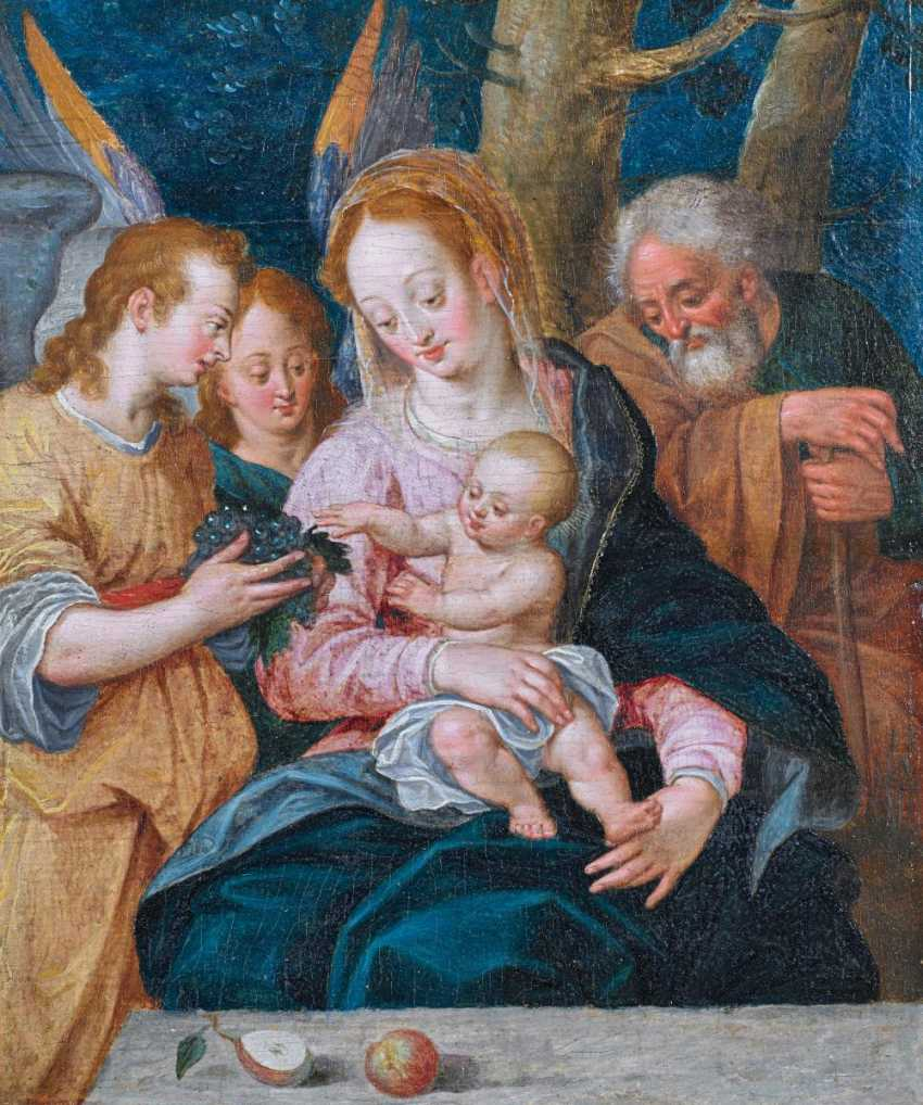 The Prague School. Holy family with angels. - photo 1