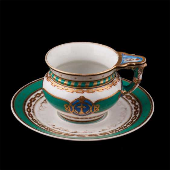 "Cup and saucer from the main service of the Imperial yacht ""Derzhava"" - photo 1"