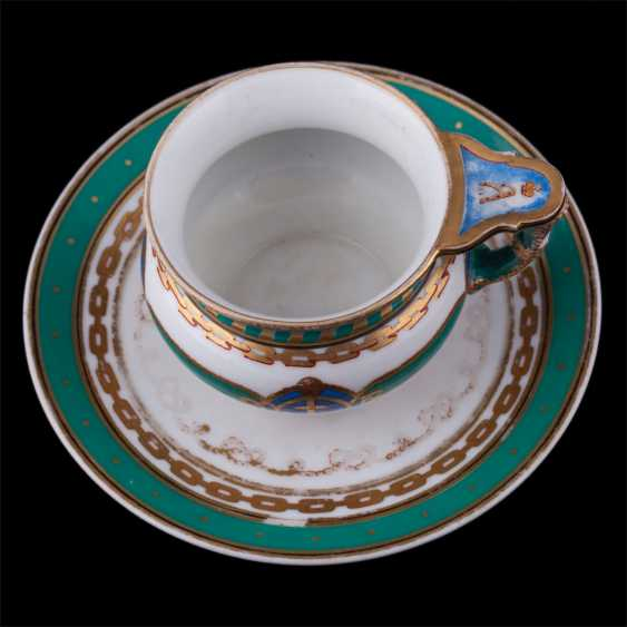 "Cup and saucer from the main service of the Imperial yacht ""Derzhava"" - photo 3"