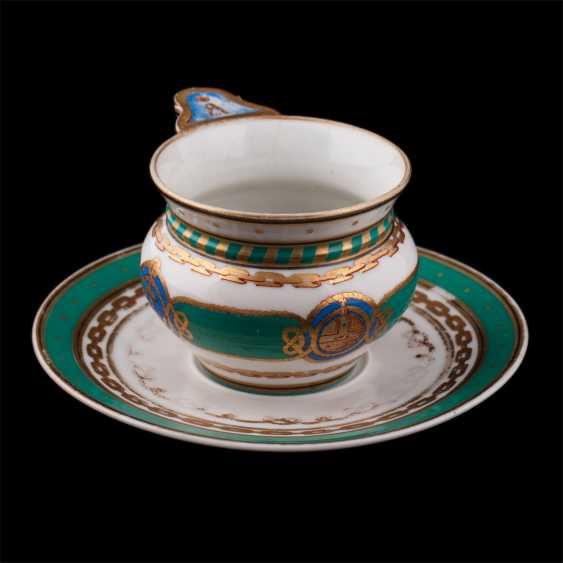 "Cup and saucer from the main service of the Imperial yacht ""Derzhava"" - photo 2"