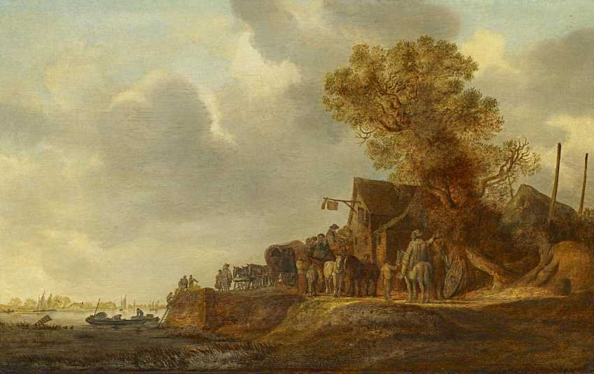 Goyen, Jan van. The tavern with the flagship. - photo 1