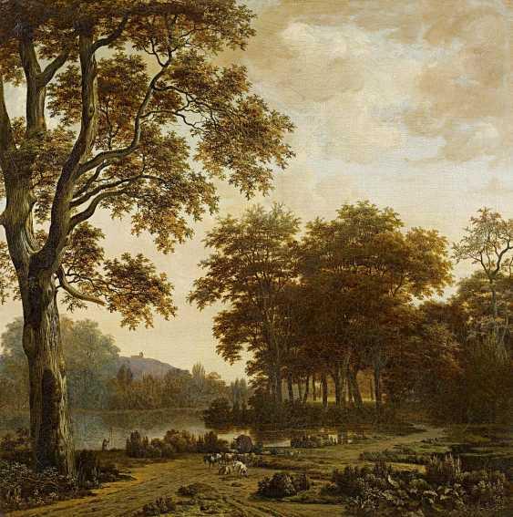 Hagen, Joris van der. Forest and river landscape, with animal staffage. - photo 1