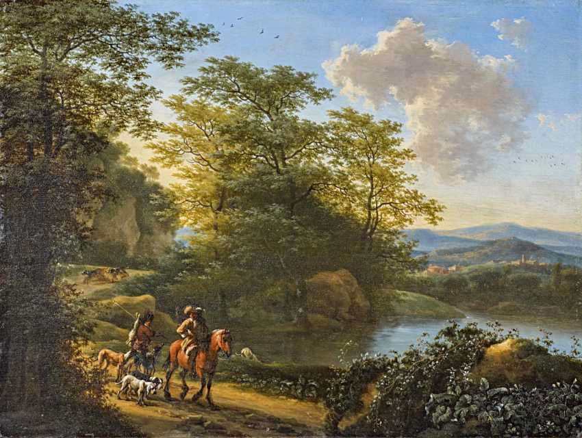 Heusch, Willem de. River landscape with travelers. - photo 1