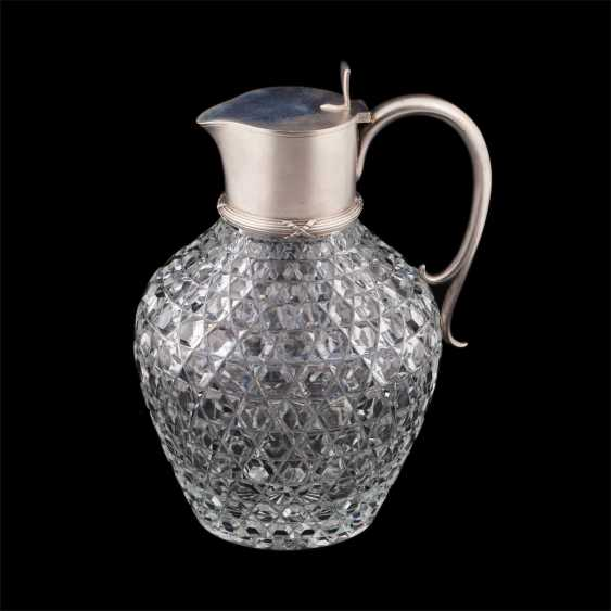 "A decanter. Silver, crystal carving ""Russian stone"" - photo 1"