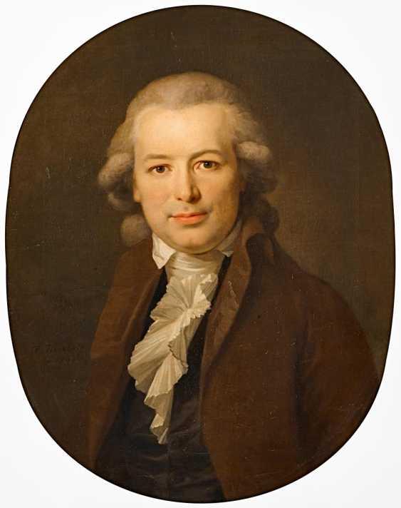 Tischbein, Johann Friedrich August. Portrait of Karl August Böttiger with a brown skirt. - photo 1