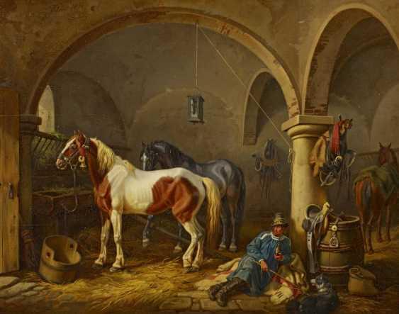 Klein, Johann Adam. In The Horse Stable. - photo 1