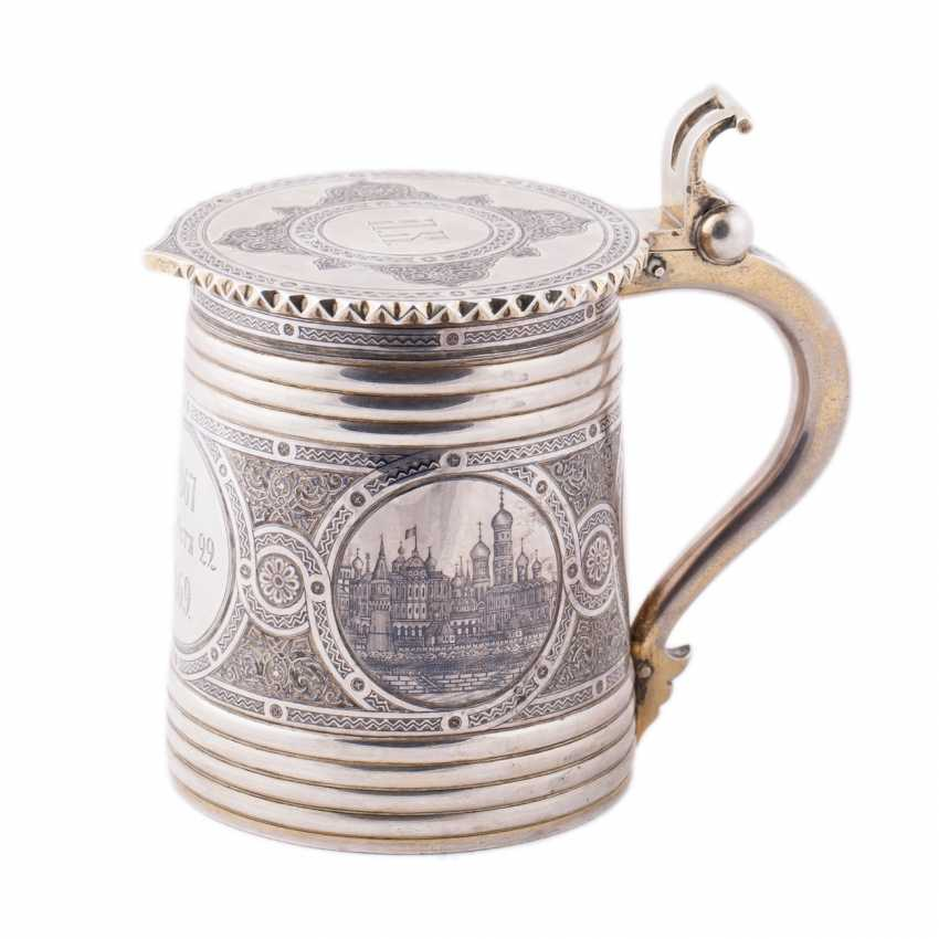 """Mug with lid in the """"Russian style"""" with views of the Moscow Kremlin - photo 1"""