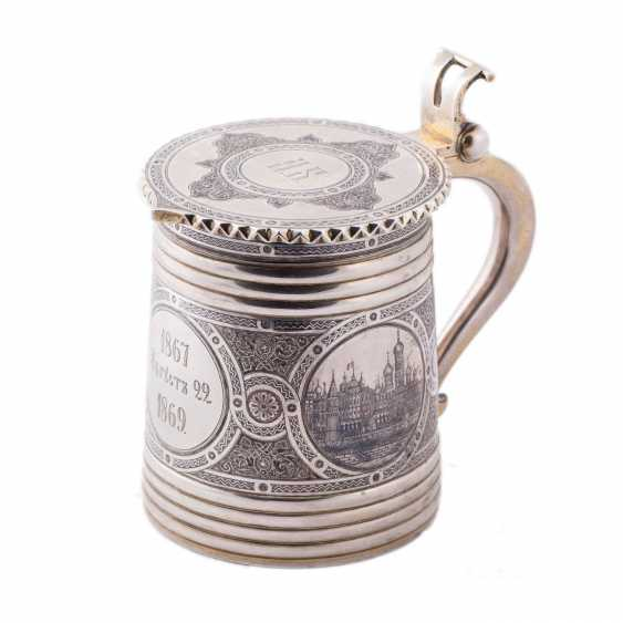 """Mug with lid in the """"Russian style"""" with views of the Moscow Kremlin - photo 9"""