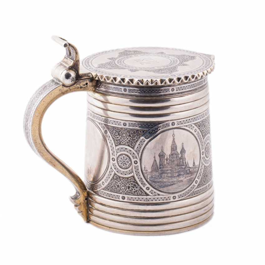"""Mug with lid in the """"Russian style"""" with views of the Moscow Kremlin - photo 2"""