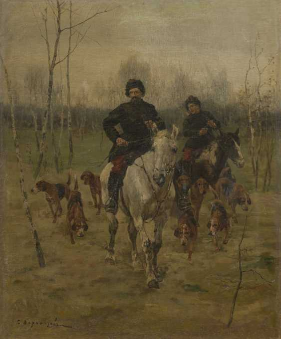 VOROSHILOV, SERGEI (1865-1911) Hunting Scene , signed. - photo 1