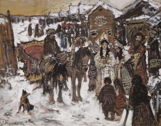 TURZHANSKY, LEONARD (1875-1945) On the Way to the Church , signed. - photo 1