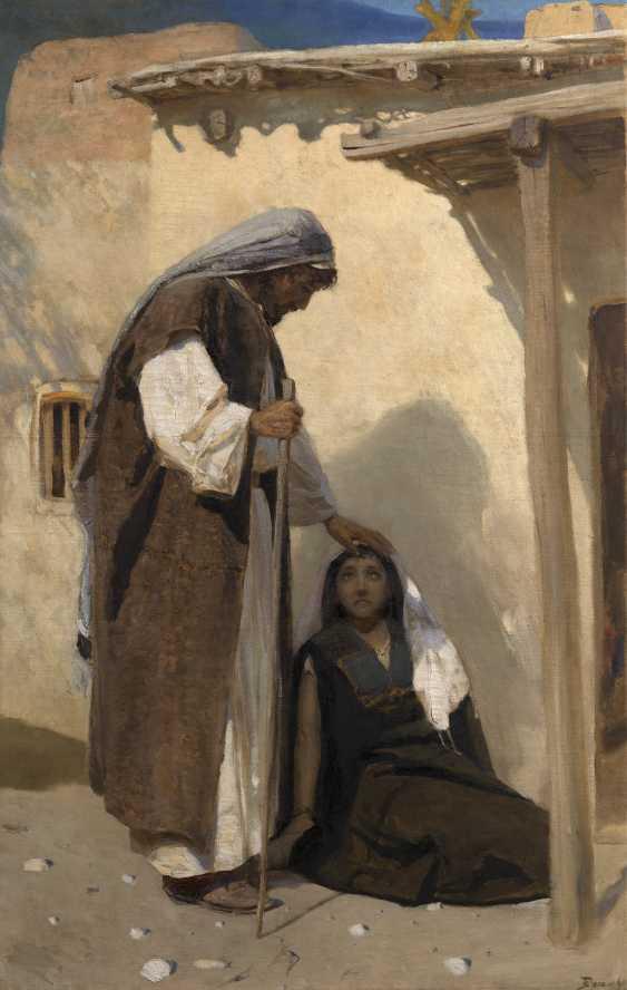 Василий ПОЛЕНОВ (1844-1927) Иисуса Христа с Марией Магдалиной , подписал. - фото 1