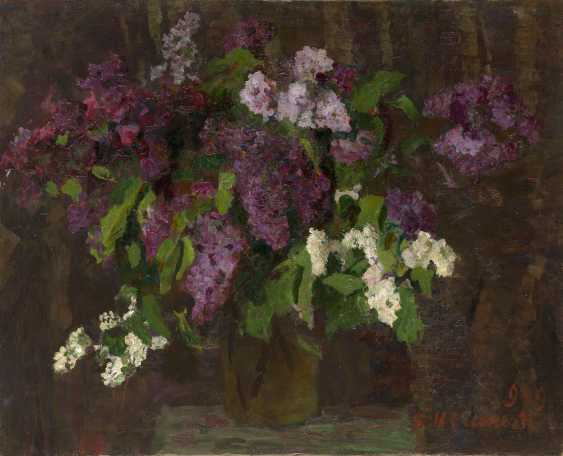 IOGANSON, BORIS (1893-1973) Bouquet of Lilacs , signed and dated 1949, also further signed, titled in Cyrillic and dated on the stretcher. - photo 1