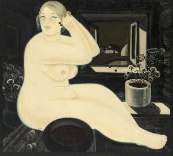 OBROSOV, IGOR (1930-2010) Nude with Cherries , signed, also further signed, titled in Cyrillic and dated 1992 on the reverse.. - photo 1