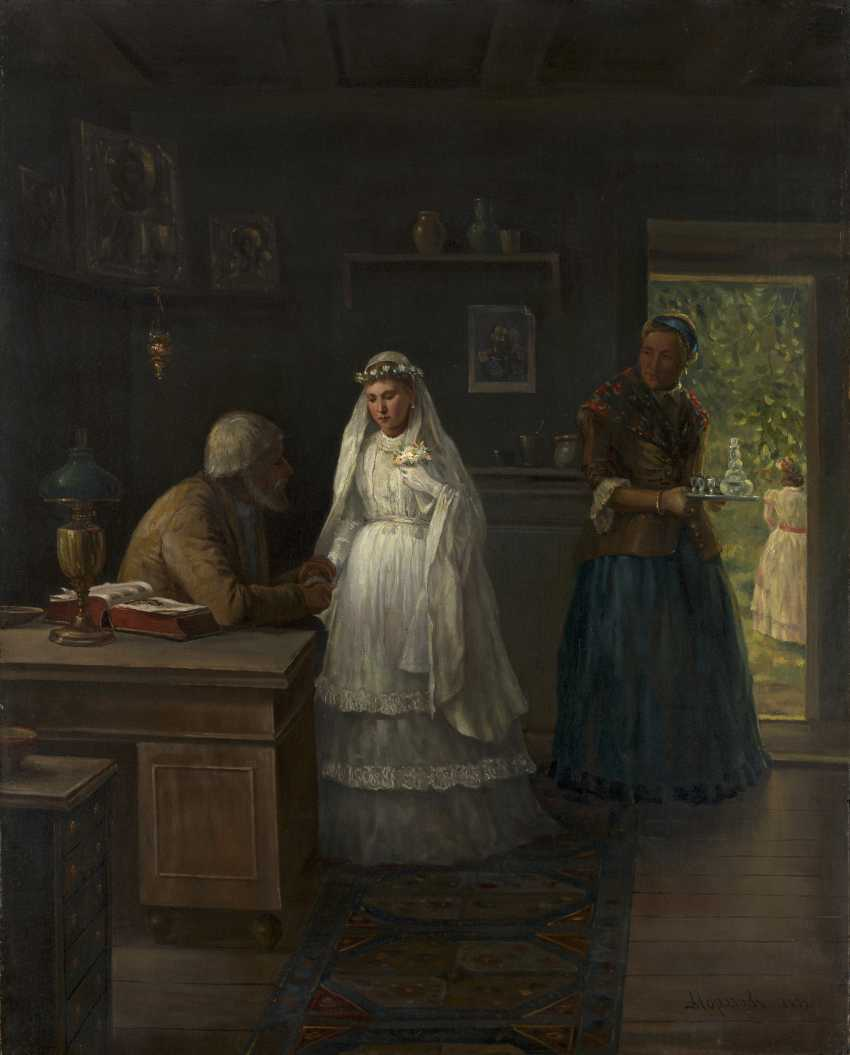 MOROZOV, ALEXANDER (1835-1904) Before the Wedding , signed and dated 1879. - photo 1