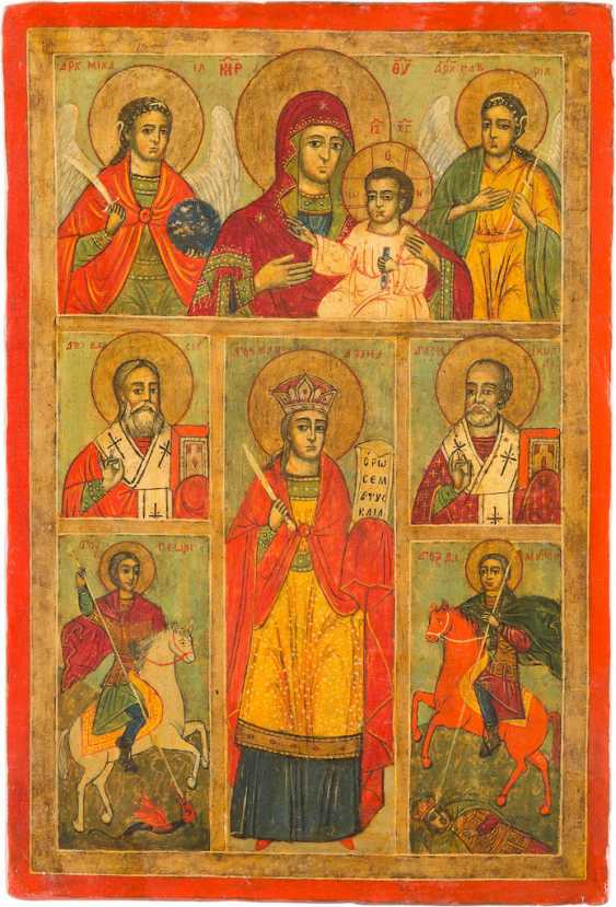 MORE FIELDS-ICON OF THE MOTHER OF GOD AND SELECTED SAINTS - photo 1