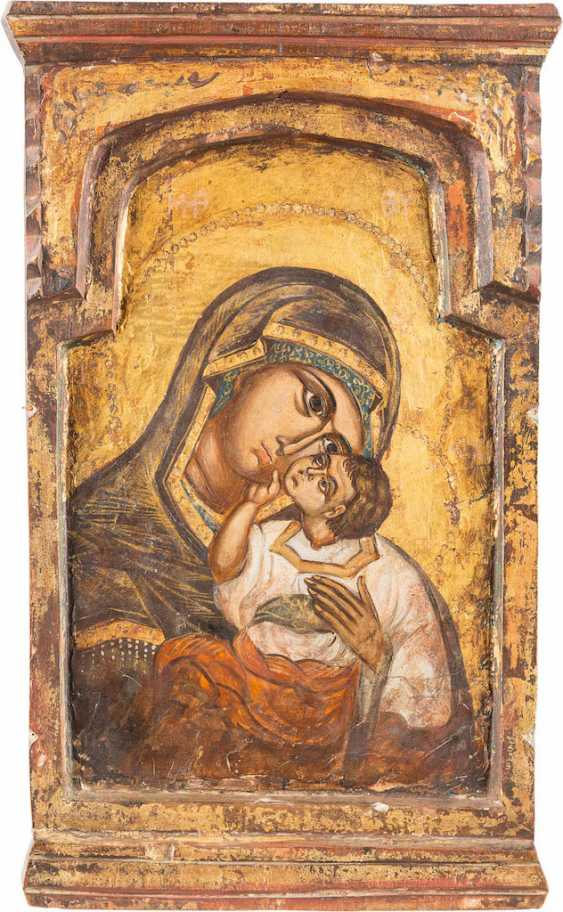 THE MIDDLE PART OF A TRIPTYCH WITH THE MOTHER OF GOD - photo 1