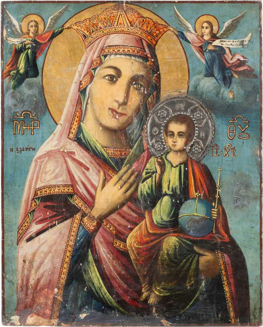 LARGE ICON OF THE MOTHER OF GOD 'ELEUSA' - photo 1
