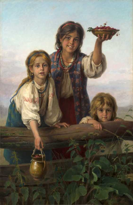 PLATONOV, KHARITON (1842-1907) Berries for Sale! , signed and dated 1888. - photo 1