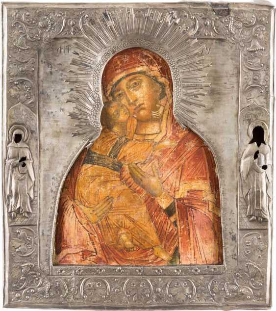 ICON OF THE MOTHER OF GOD OF VLADIMIR (VLADIMIRSKAYA) WITH RIZA - photo 1