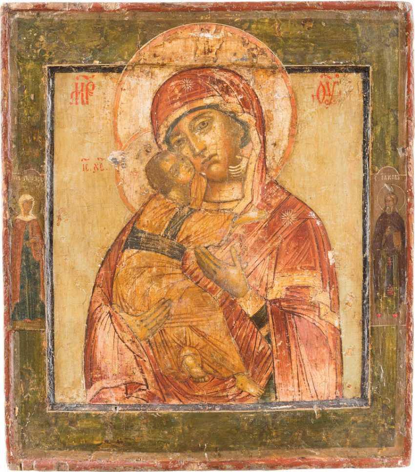 ICON OF THE MOTHER OF GOD OF VLADIMIR (VLADIMIRSKAYA) WITH RIZA - photo 2