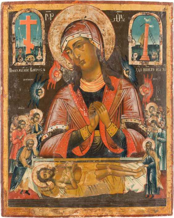 LARGE-SCALE ICON OF THE ENTOMBMENT OF CHRIST - photo 1