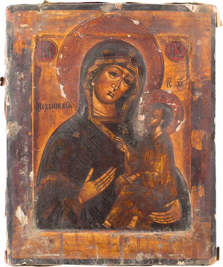ICON OF THE MOTHER OF GOD OF TIKHVIN (TICHWINSKAJA) WITH RIZA - photo 2