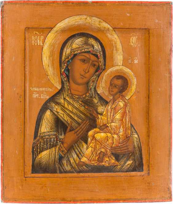ICON OF THE MOTHER OF GOD OF TIKHVIN (TICHWINSKAJA) WITH PEARL-OKLAD - photo 2