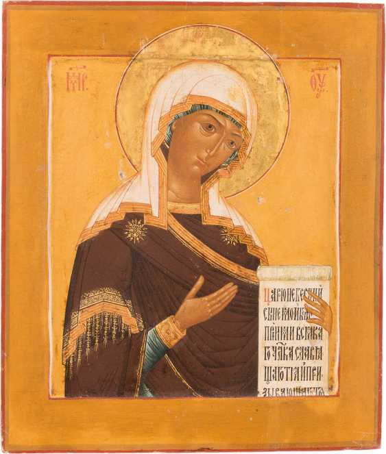 ICON OF THE MOTHER OF GOD FROM A DEESIS WITH SILVER OKLAD - photo 2
