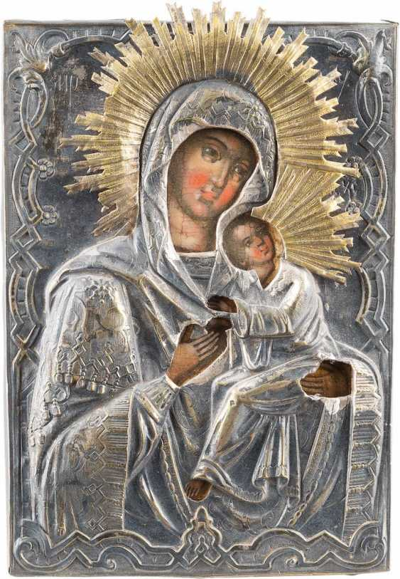 SMALL ICON OF MOTHER OF GOD OF THE PASSION WITH OKLAD - photo 1