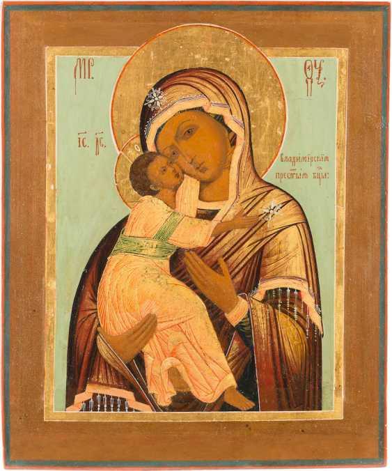 ICON OF THE MOTHER OF GOD OF VLADIMIR (VLADIMIRSKAYA) WITH SILVER OKLAD - photo 2