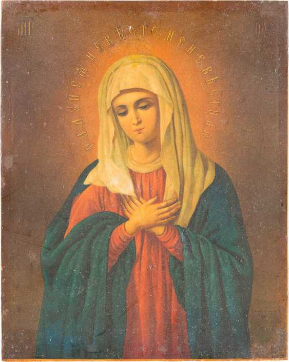 SMALL ICON OF THE MOTHER OF GOD 'EMOTION' FROM THE SERAPHIM CONVENT IN DIVEEVO - photo 1