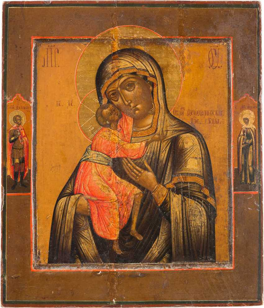 LARGE ICON OF THE MOTHER OF GOD OF FEODOR (FEORODOWSKAJA) - photo 1