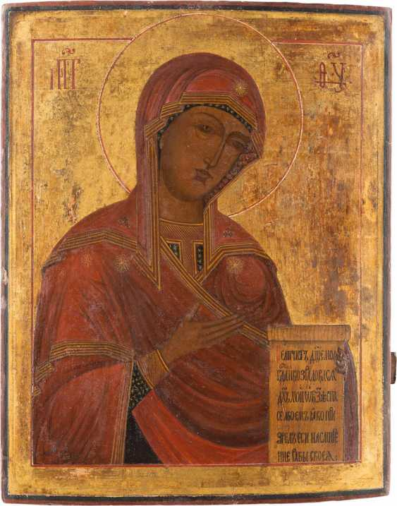 LARGE-SCALE ICON OF THE MOTHER OF GOD FROM A DEESIS - photo 1