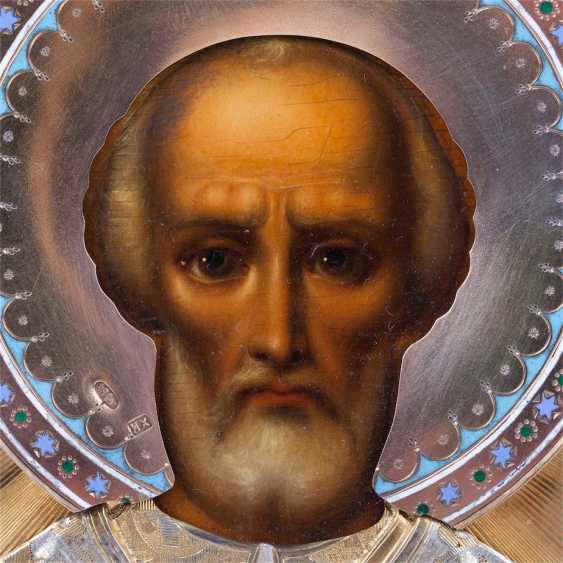 A rare icon of Saint Nicholas the Wonderworker - photo 5