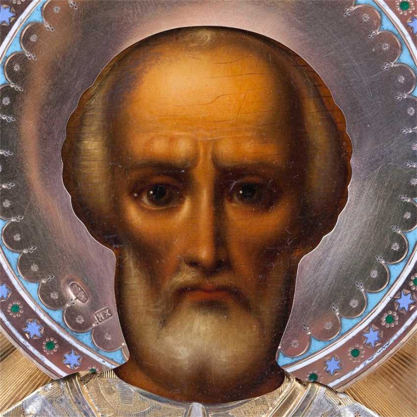 A rare icon of Saint Nicholas the Wonderworker