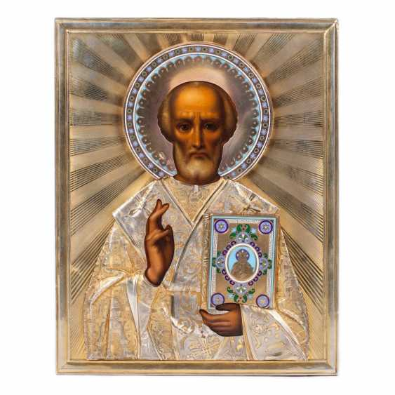 A rare icon of Saint Nicholas the Wonderworker - photo 1