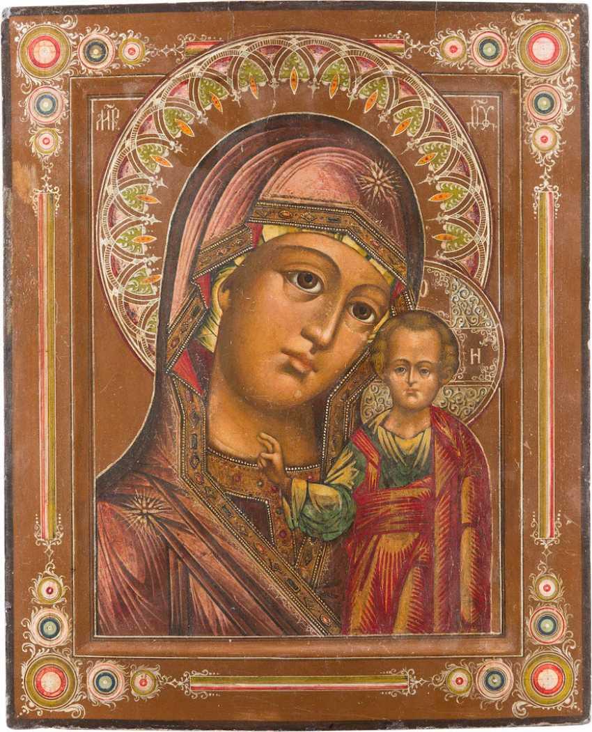 ICON OF THE MOTHER OF GOD OF KAZAN (KAZANSKAYA) - photo 1