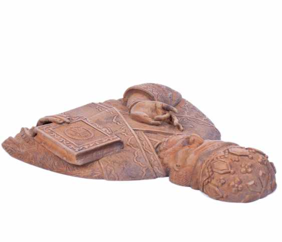 A carved figure of St. Nicholas - photo 4