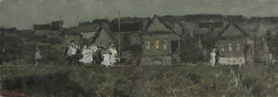 TUTUNOV, ANDREI (B. 1928) Northern Night in a Village , signed, also further signed and titled in Cyrillic on the stretcher. - photo 1