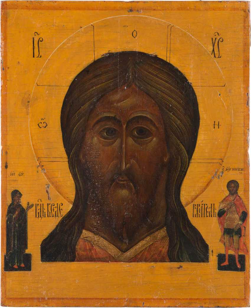 LARGE ICON OF CHRIST THE ALMIGHTY WITH VERMEIL-RIZA - photo 2