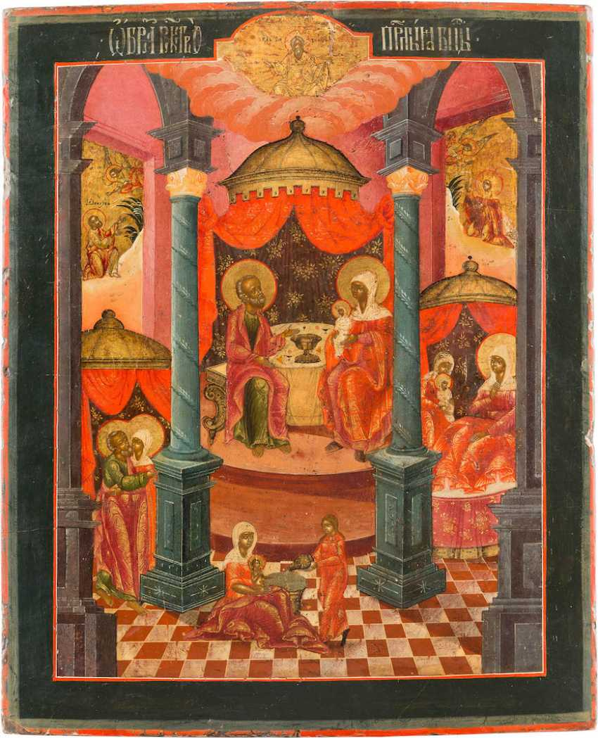 LARGE-FORMAT ICON WITH THE NATIVITY OF THE MOTHER OF GOD - photo 1