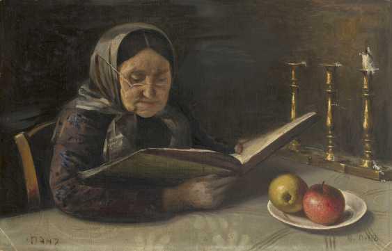 PEN, YEHUDA (1854-1937) Old Woman Reading , signed twice. - photo 1