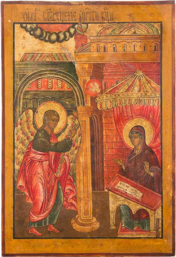 LARGE-FORMAT ICON WITH THE ANNUNCIATION - photo 1