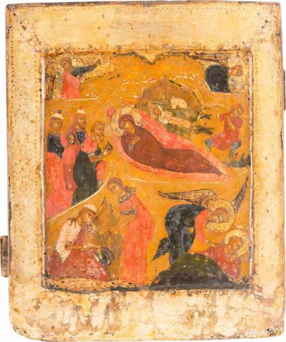 A FINE ICON OF THE BIRTH OF CHRIST - photo 1