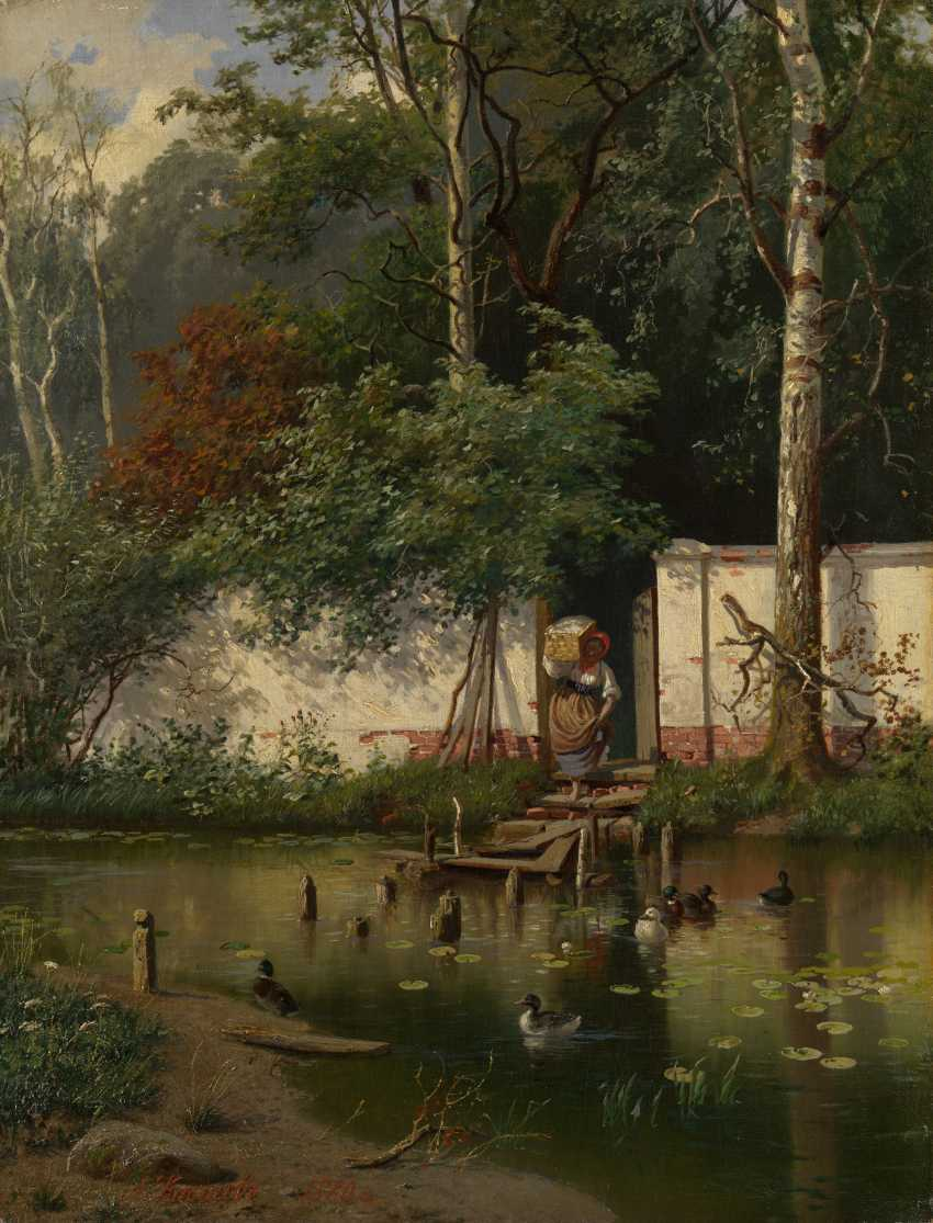 KISELEV, ALEXANDER (1838-1911) By a Pond , signed and dated 1881. - photo 1