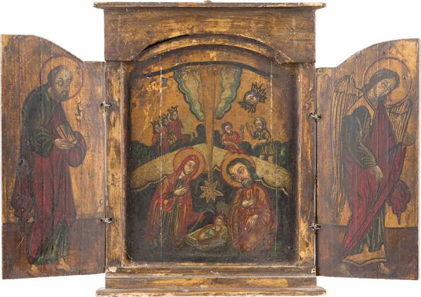 TRIPTYCH WITH THE BIRTH OF CHRIST - photo 1