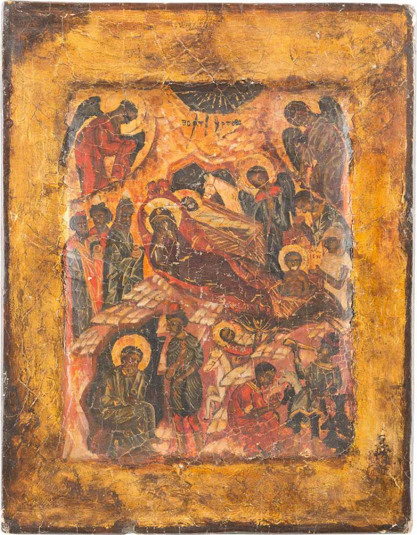ICON WITH THE NATIVITY OF CHRIST - photo 1