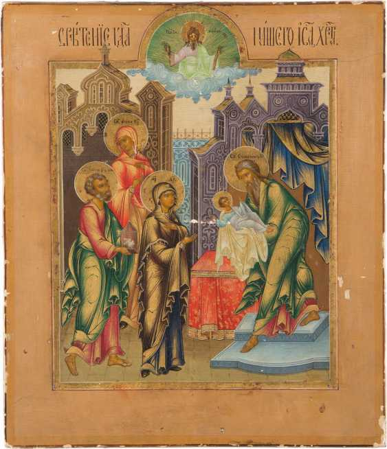 A FINE ICON OF THE PRESENTATION OF CHRIST IN THE TEMPLE - photo 1